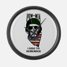 POW-NEVER FORGET-2- Large Wall Clock