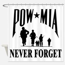 POW-NEVER FORGET-2- Shower Curtain