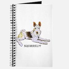 Squirrel Alert Fox Terrier Journal
