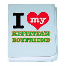 I love my Kittitian Boyfriend baby blanket