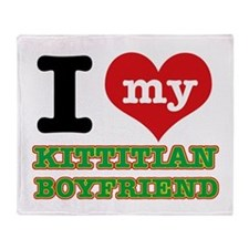 I love my Kittitian Boyfriend Throw Blanket