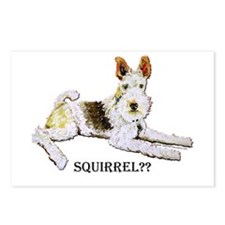 Squirrel Alert Fox Terrier Postcards (Package of 8