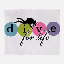 Dive for Life Throw Blanket