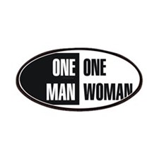 One Man One Woman Patches