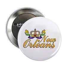 New Orleans Mardi Gras Crown Button