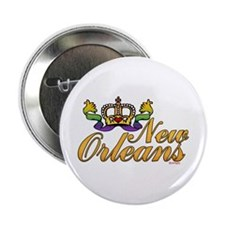 "New Orleans Mardi Gras Crown 2.25"" Button (10 pack"