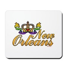 New Orleans Mardi Gras Crown Mousepad