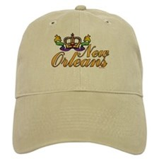 New Orleans Mardi Gras Crown Baseball Cap
