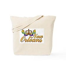 New Orleans Mardi Gras Crown Tote Bag
