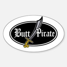 Butt Pirate (Decal Style) Oval Decal