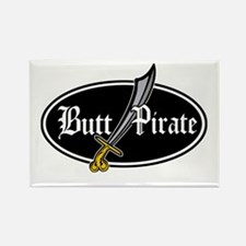 Butt Pirate (Decal Style) Rectangle Magnet