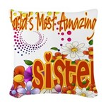 Amazing sister copy.png Woven Throw Pillow