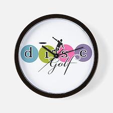 disc golf launch classic Wall Clock