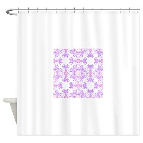 pink shower curtain by dakotasmummy