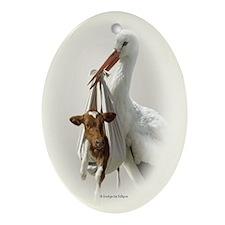 Holstein Calf Oval Ornament