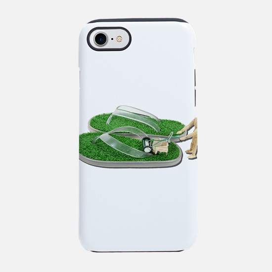MowingGrassSandals073011.png iPhone 7 Tough Case