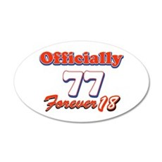Officially 77 designs 20x12 Oval Wall Decal