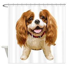 CavalierKingCharlesSpaniel002 Shower Curtain