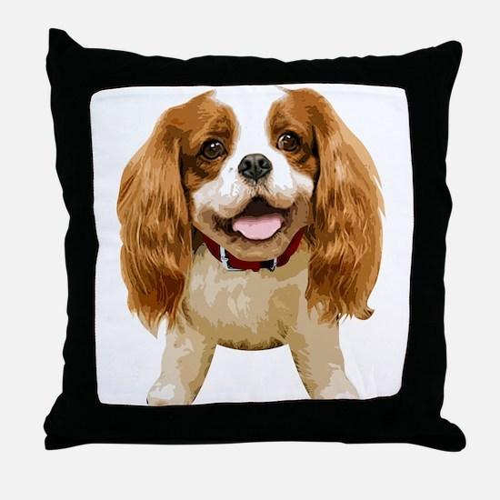 CavalierKingCharlesSpaniel002 Throw Pillow