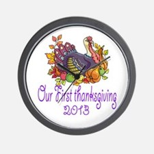 Our First Thanksgiving 2013 Wall Clock