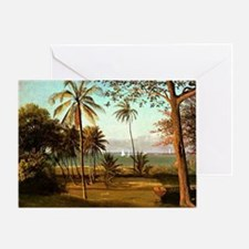 Florida Scene, painting by Albert Bi Greeting Card