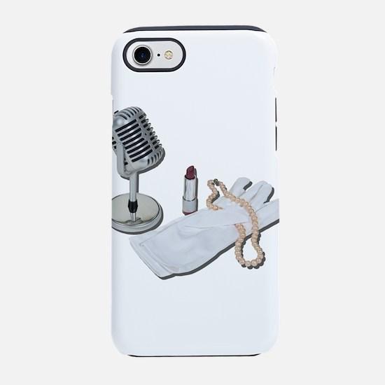 MicrophoneWhiteGlovesPearlsLip iPhone 7 Tough Case