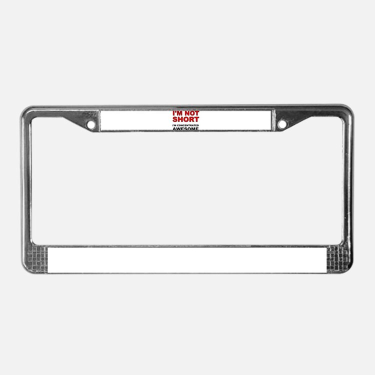Not Short Concentrated Awesome License Plate Frame