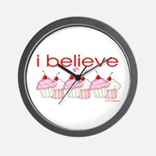 I believe in cupcakes Wall Clock