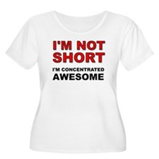 Not Short Concentrated Awesome Plus Size T-Shirt