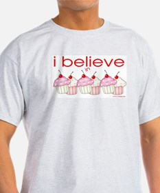 I believe in cupcakes Ash Grey T-Shirt