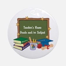 Custom Teacher Ornament (Round)
