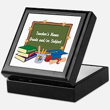 Custom Teacher Keepsake Box