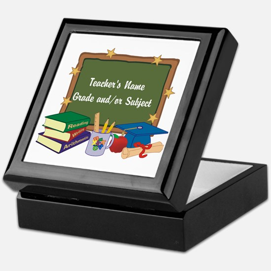 Custom Teacher Keepsake Box