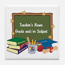 Custom Teacher Tile Coaster