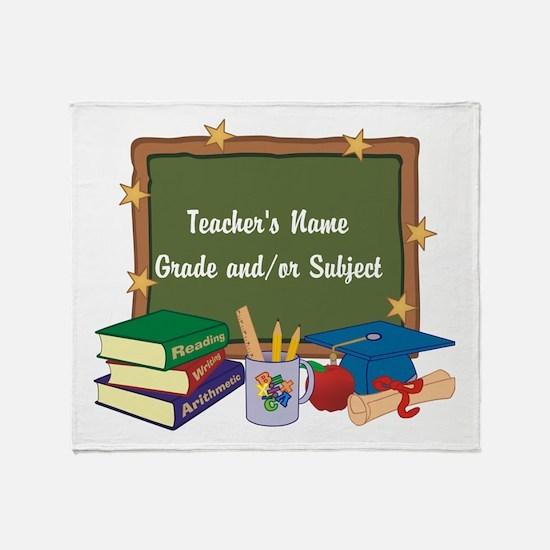 Custom Teacher Throw Blanket