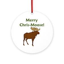 SALE! Merry Chris-Moose! Ornament (Round)