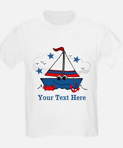 Cute Little Sailboat Personalized T-Shirt