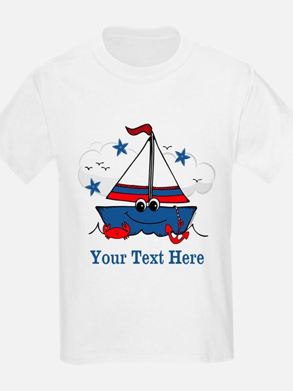 Cute Little Sailboat Personalized T-Shirt