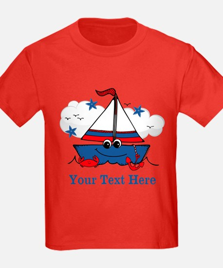 Cute Little Sailboat Personalized T