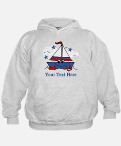 Cute Little Sailboat Personalized Hoody
