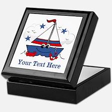 Cute Little Sailboat Personalized Keepsake Box