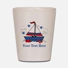 Cute Little Sailboat Personalized Shot Glass