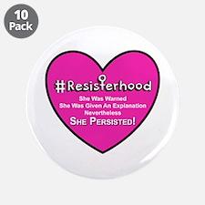 """Resisterhood - Heart 3.5"""" Button (10 Pack)"""