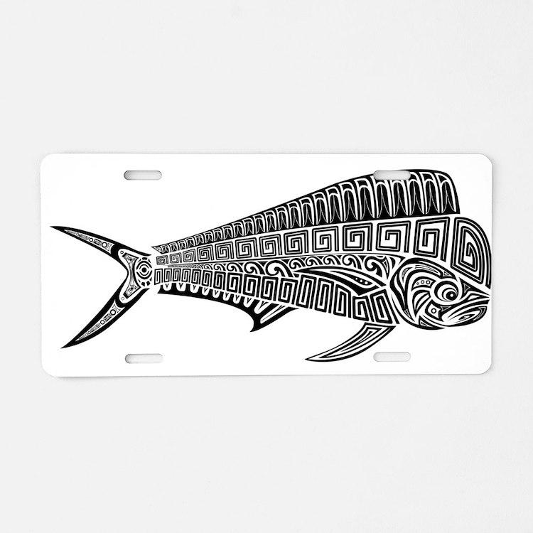 Polynesian Mahi Aluminum License Plate