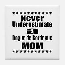Dogue de Bordeaux Mom Tile Coaster