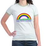 My Life Sucks Rainbow Jr. Ringer T-Shirt