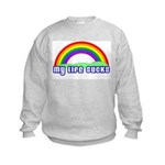 My Life Sucks Rainbow Kids Sweatshirt