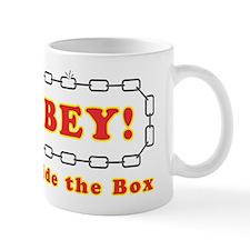 Disobey think outside box Mug