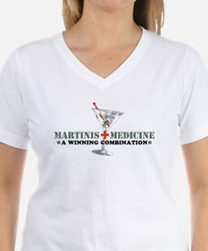 """Martinis & Medicine"" Ash Grey T-Shirt"