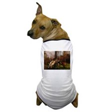 Mallard Duck In Flight Dog T-Shirt